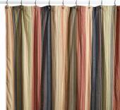 Retro Chic Fabric Shower Curtain, 100% Cotton