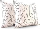 Inhabit - Madera in White Pillow