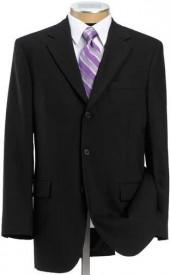 Business Express 3-Button Jacket-Black Stretch