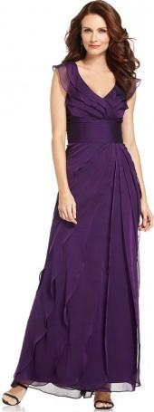 Adrianna Papell Tiered Evening Dress