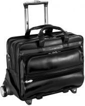 Mcklein franklin 17-in. detachable-wheel laptop case