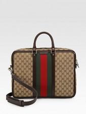Gucci Canvas & Leather Briefcase