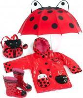 """Kidorable """"Ladybug"""" Raincoat"""