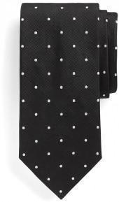 Extra-Long Dot Repp Tie