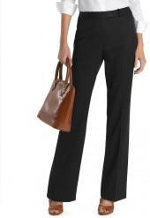 Petite Plain-Front Caroline Fit Gabardine Dress Trousers