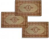"""Scrolling Red 38"""" X 60"""" Monogrammed Doormat"""