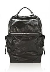 Wallie Backpack In Waxy Black With Rhodium