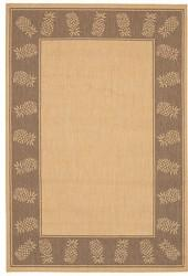"Couristan Area Rug, Recife Indoor/Outdoor 1177/3000 Tropics Natural-Cocoa 7' 6"" x 10' 9"""