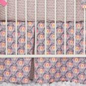 Caden Lane® Peacock Crib Bedding Collection in Pink