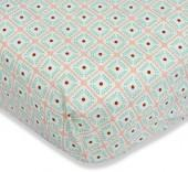 Caden Lane® Lovely Coral Lace Fitted Crib Sheet