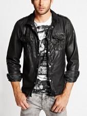 Genuine Leather Shirt Jacket