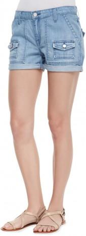 Joie So Real Cuffed Denim Shorts, Hydra
