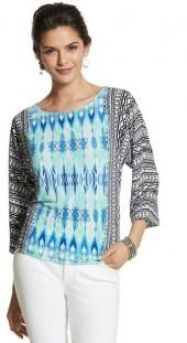 Ikat 3/4-Sleeved Top
