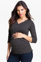 Japanese Weekend Cross Front Maternity/Nursing Top