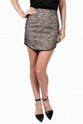 Keepsake Rebel Heart Skirt Black/Nude