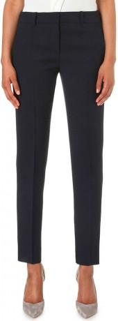 ARMANI COLLEZIONI Tapered mid-rise stretch-wool trousers