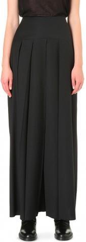THAMANYAH Pleated wide-leg wool trousers