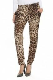 Lavendar Brown Leopard Printed Pants