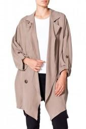 MICHELLE MASON Oversized Trench Coat Sand o0r Black