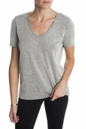 Bella Luxx Seamed V Tee Heather Grey
