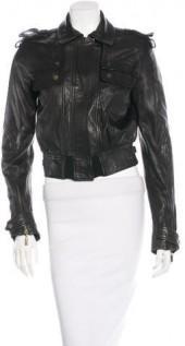 Just Cavalli Leather Bomber Jacket