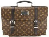 Louis Vuitton Monogram Macassar Canvas Rally Briefcase (Pre Owned)