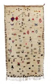"Vintage Azilal Moroccan Berber Rug, 4'1"" x 7'5"" feet"