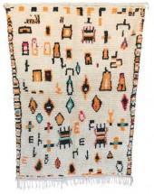 "Vintage Azilal Moroccan Berber Rug, 3'11"" x 5'7"" feet"