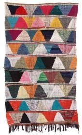 "Moroccan Kilim Boucherouite, 4'6"" x 7'9"" feet"