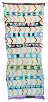 "Vintage Azilal Moroccan Berber Rug, 3'2"" x 7'4"" feet"