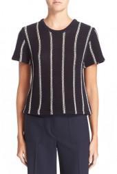 Theory 'Ibisco Emmeris' Short Sleeve Cotton Sweater