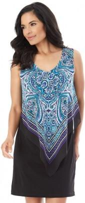 Women's AB Studio Paisley Popover Shift Dress