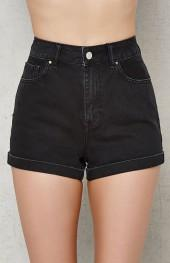 PacSun Sabbath Cuffed Denim Mom Shorts