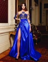 MNM Couture - Lace Embellished Bateau Ballgown N0138