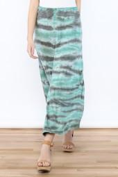 Tribal Jeans Tie Dye Maxi Skirt