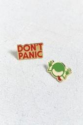 Out Of Print Hitchhiker's Guide To The Galaxy Pin Set