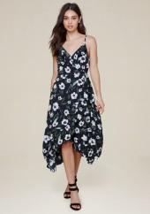 Ruffled Hi-Lo Wrap Dress