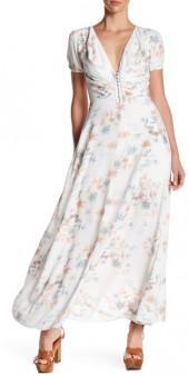 Dress Forum Short Sleeve Floral Maxi Dress