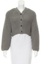 Balenciaga Wool & Alpaca-Blend Cropped Cardigan