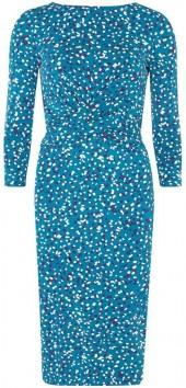 **Lily & Franc Scattered Spot Twist Bodycon Dress