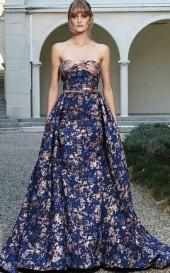 MNM Couture - Embellished Straight Neck Ballgown N0123