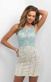 Blush - C353 Bejeweled Sheath Dress