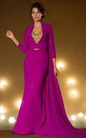 MNM Couture - 2177 Embellished Illusion Jewel Neck Sheath Dress
