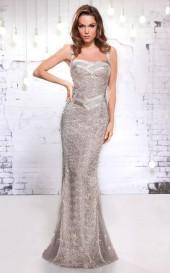MNM Couture - 8689 Embellished Semi-Sweetheart Sheath Dress