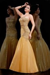 MNM Couture - 8014 Bejeweled Sweetheart Trumpet Dress