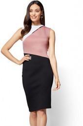 Cutout Colorblock Sheath Dress