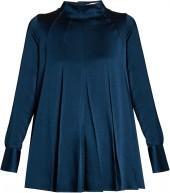 VALENTINO Long-sleeved hammered-satin blouse