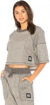 IVY PARK Two Tone Tee in Gray