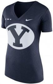 Women's Nike BYU Cougars Striped Bar Tee