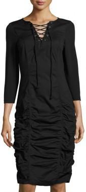 XCVI Natasha 3/4-Sleeve Ruched Dress